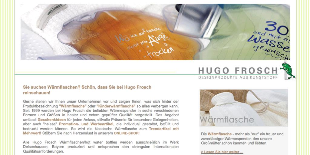 Hugo Frosch   Wärmflaschen mit dem gewissen Extra aktuelle Trends